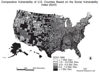 Cutter et al. Social Vulnerability to Environmental Hazards. Social Sciences Quarterly 2003. 84 (2): 242-61