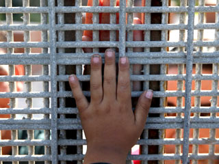 Child Hand Immigration Camp