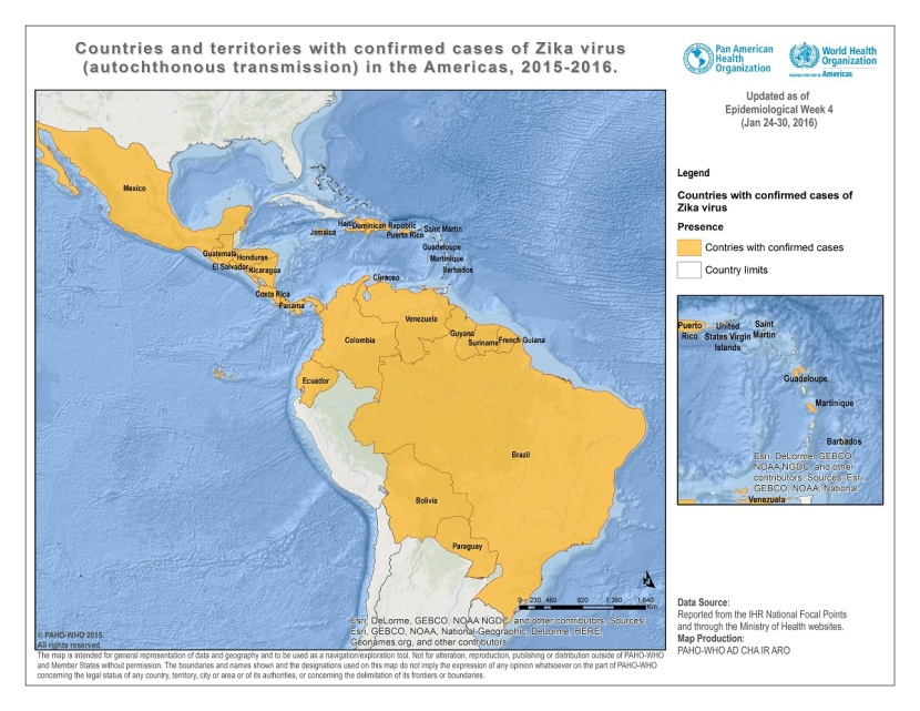2016 PAHO Zika areas