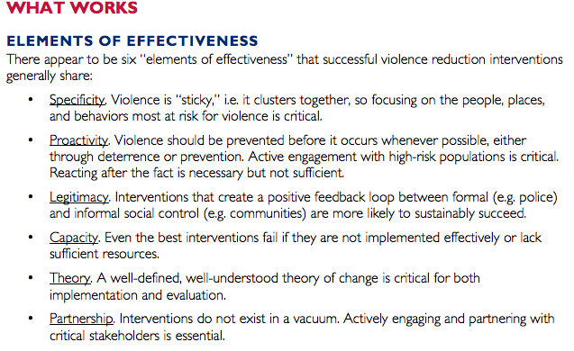 USAID. WHAT WORKS IN REDUCING COMMUNITY VIOLENCE: A META-REVIEW AND FIELD STUDY FOR THE NORTHERN TRIANGLE. Feb 2016